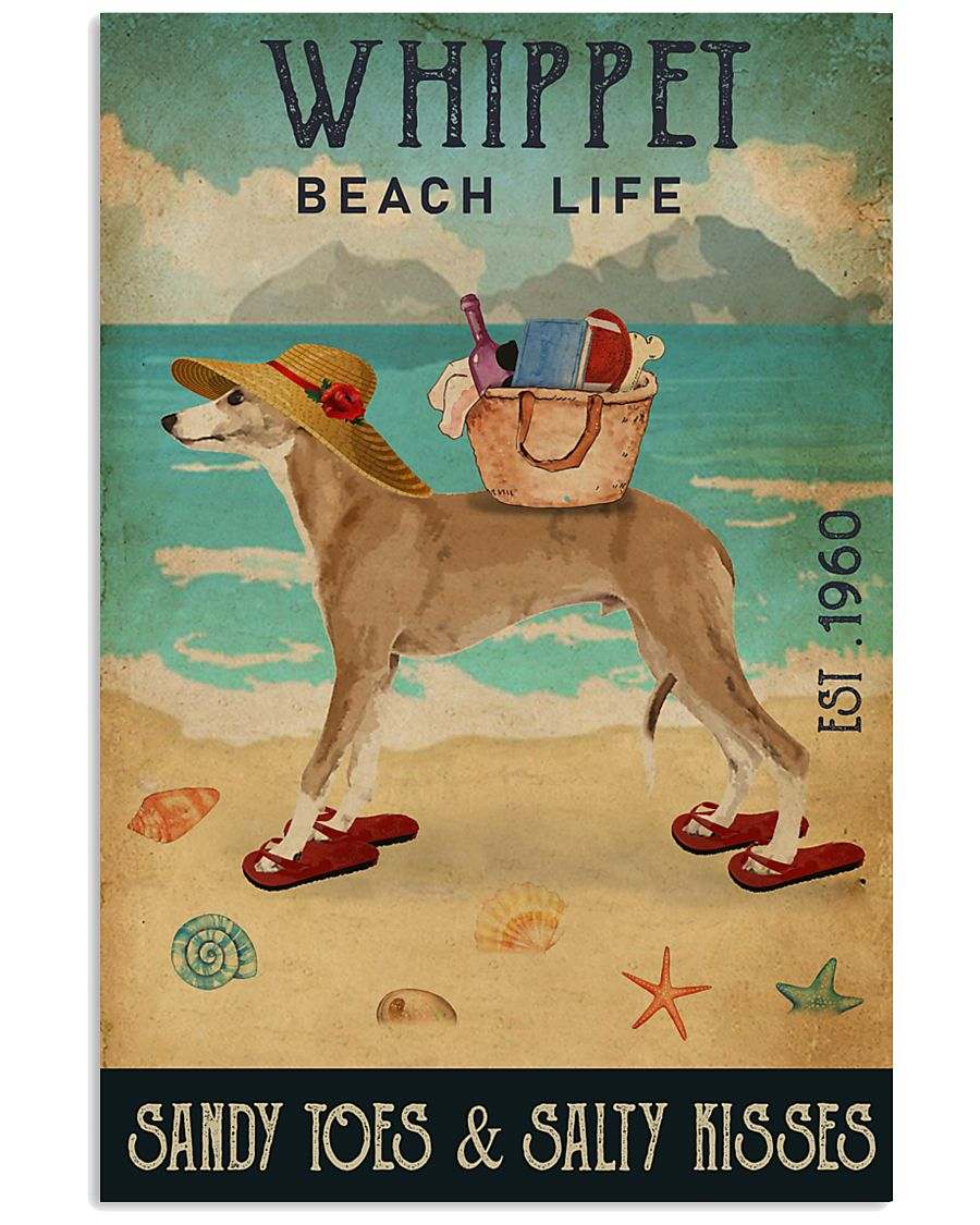 Beach Life Sandy Toes Whippet 11x17 Poster