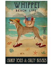 Beach Life Sandy Toes Whippet 11x17 Poster front