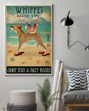 Beach Life Sandy Toes Whippet 11x17 Poster lifestyle-poster-1