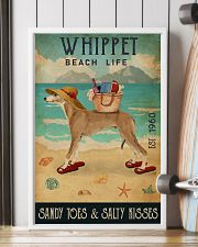 Beach Life Sandy Toes Whippet 11x17 Poster lifestyle-poster-4