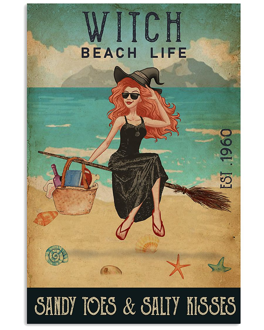 Beach Life Sandy Toes Witch 11x17 Poster