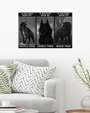 Wolf Protect Respect Defeat 24x16 Poster poster-landscape-24x16-lifestyle-01