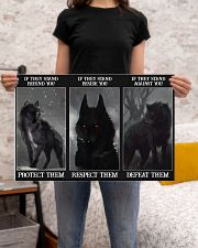 Wolf Protect Respect Defeat 24x16 Poster poster-landscape-24x16-lifestyle-20