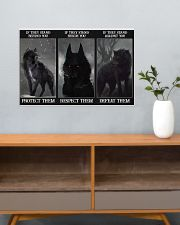 Wolf Protect Respect Defeat 24x16 Poster poster-landscape-24x16-lifestyle-25