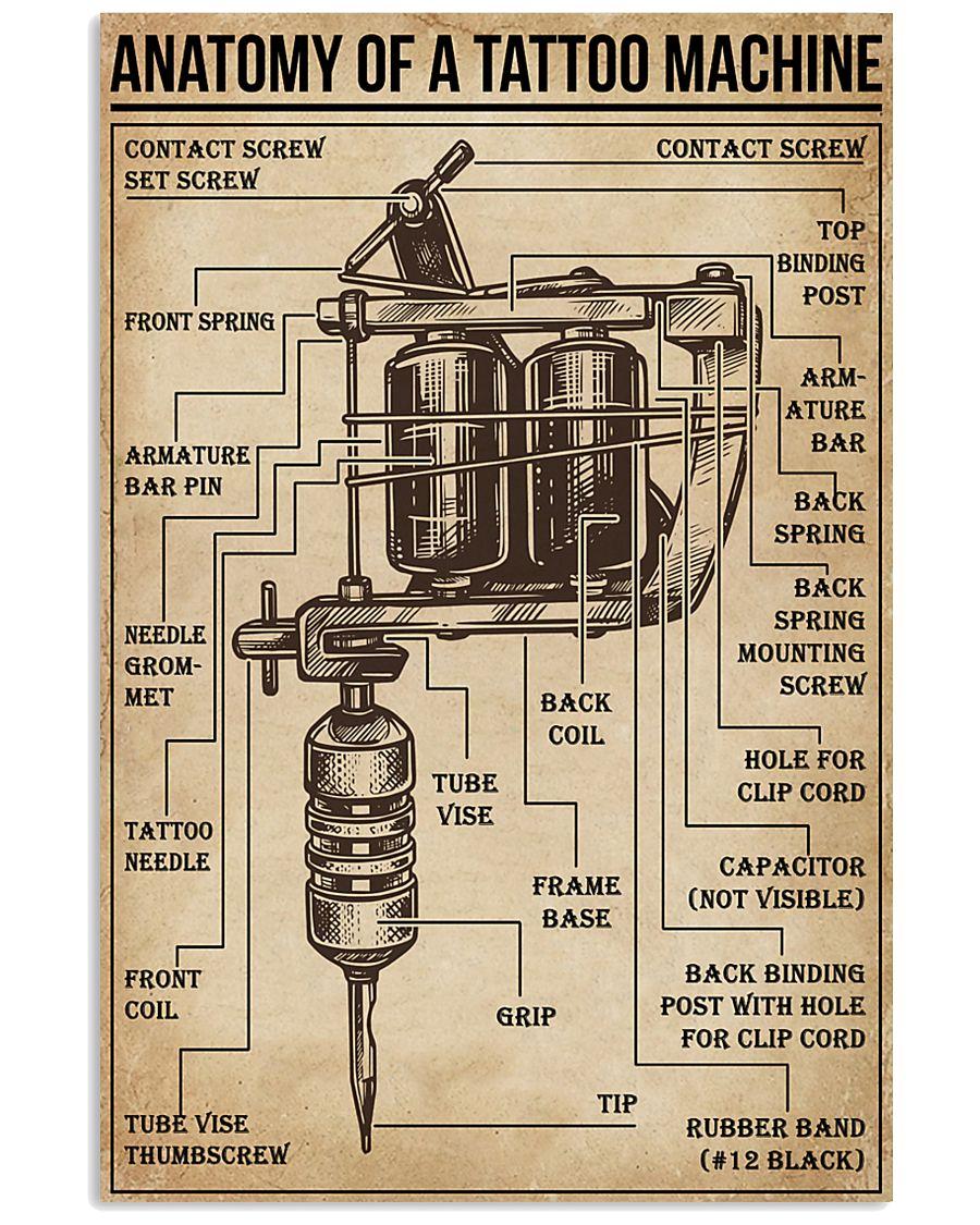 Anatomy of a Tattoo Machine 11x17 Poster