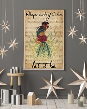 Music Sheet Let It Be Blue Hippie Girl 11x17 Poster lifestyle-holiday-poster-1