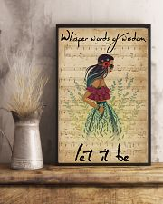 Music Sheet Let It Be Blue Hippie Girl 11x17 Poster lifestyle-poster-3