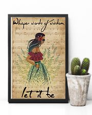Music Sheet Let It Be Blue Hippie Girl 11x17 Poster lifestyle-poster-8
