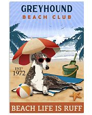 Beach Club Is Ruff Greyhound 11x17 Poster front