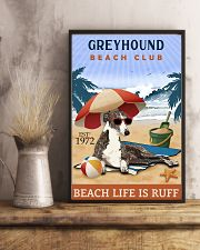 Beach Club Is Ruff Greyhound 11x17 Poster lifestyle-poster-3
