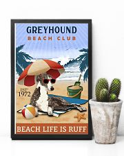 Beach Club Is Ruff Greyhound 11x17 Poster lifestyle-poster-8