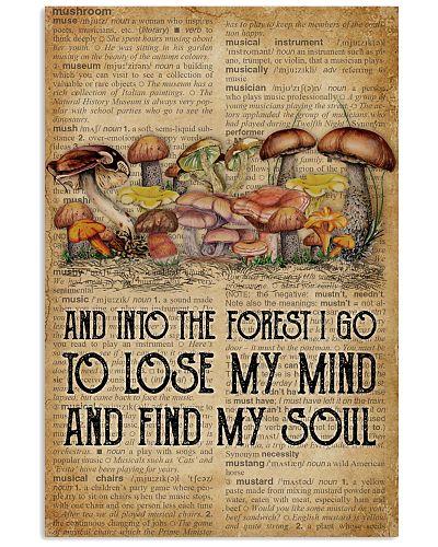 Vintage Dictionary Find My Soul Mushroom