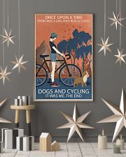 Vintage Girl Once Upon A Time Dogs And Cycling 11x17 Poster lifestyle-holiday-poster-1