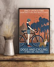 Vintage Girl Once Upon A Time Dogs And Cycling 11x17 Poster lifestyle-poster-3