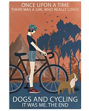 Vintage Girl Once Upon A Time Dogs And Cycling 16x24 Poster front