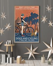 Vintage Girl Once Upon A Time Dogs And Cycling 16x24 Poster lifestyle-holiday-poster-1