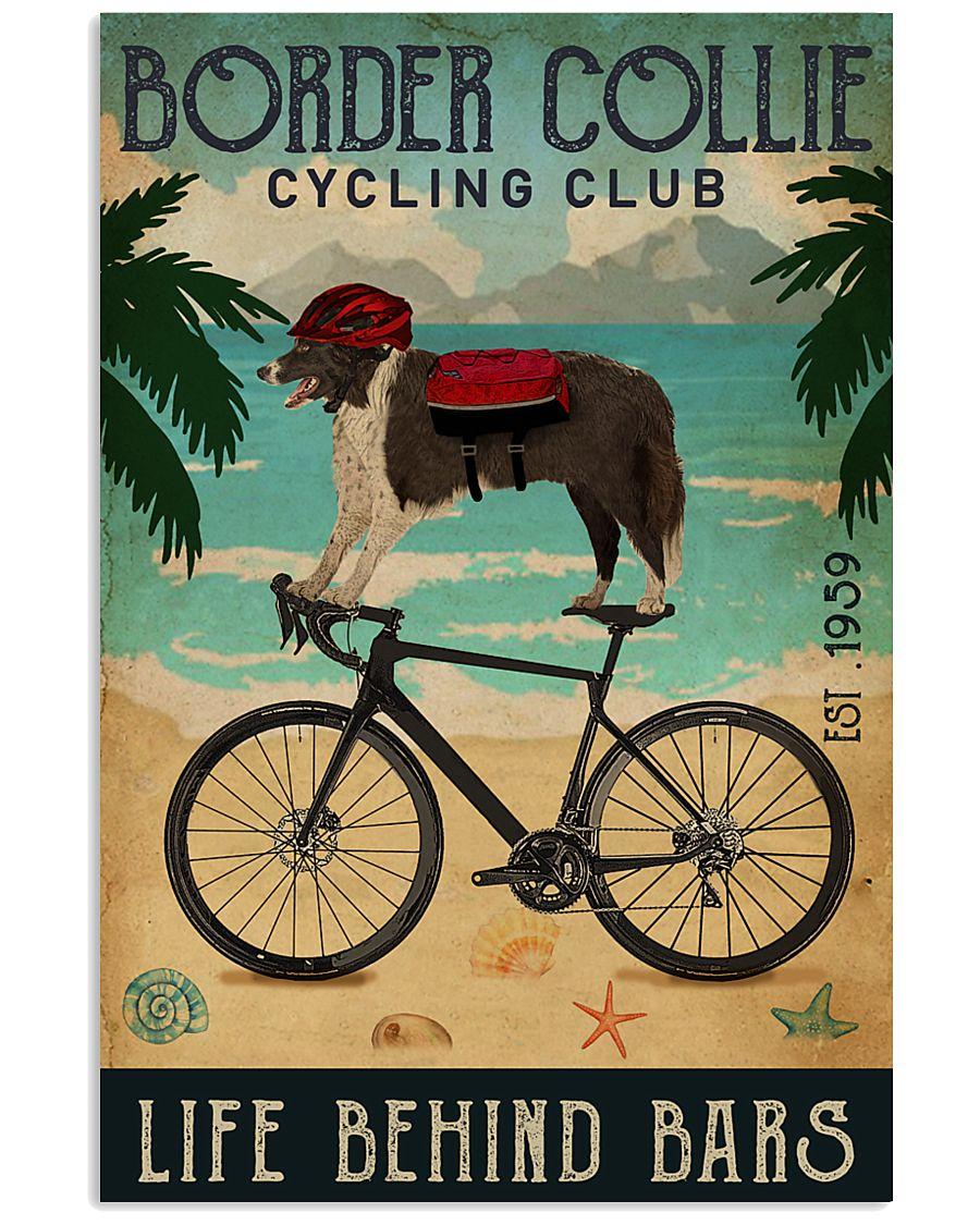 Cycling Club Border Collie 11x17 Poster