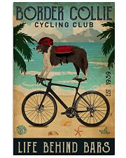 Cycling Club Border Collie 11x17 Poster front