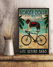 Cycling Club Border Collie 11x17 Poster lifestyle-poster-3