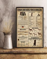 German Shorthaired Pointer Knowledge 11x17 Poster lifestyle-poster-3