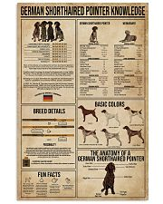 German Shorthaired Pointer Knowledge 16x24 Poster front