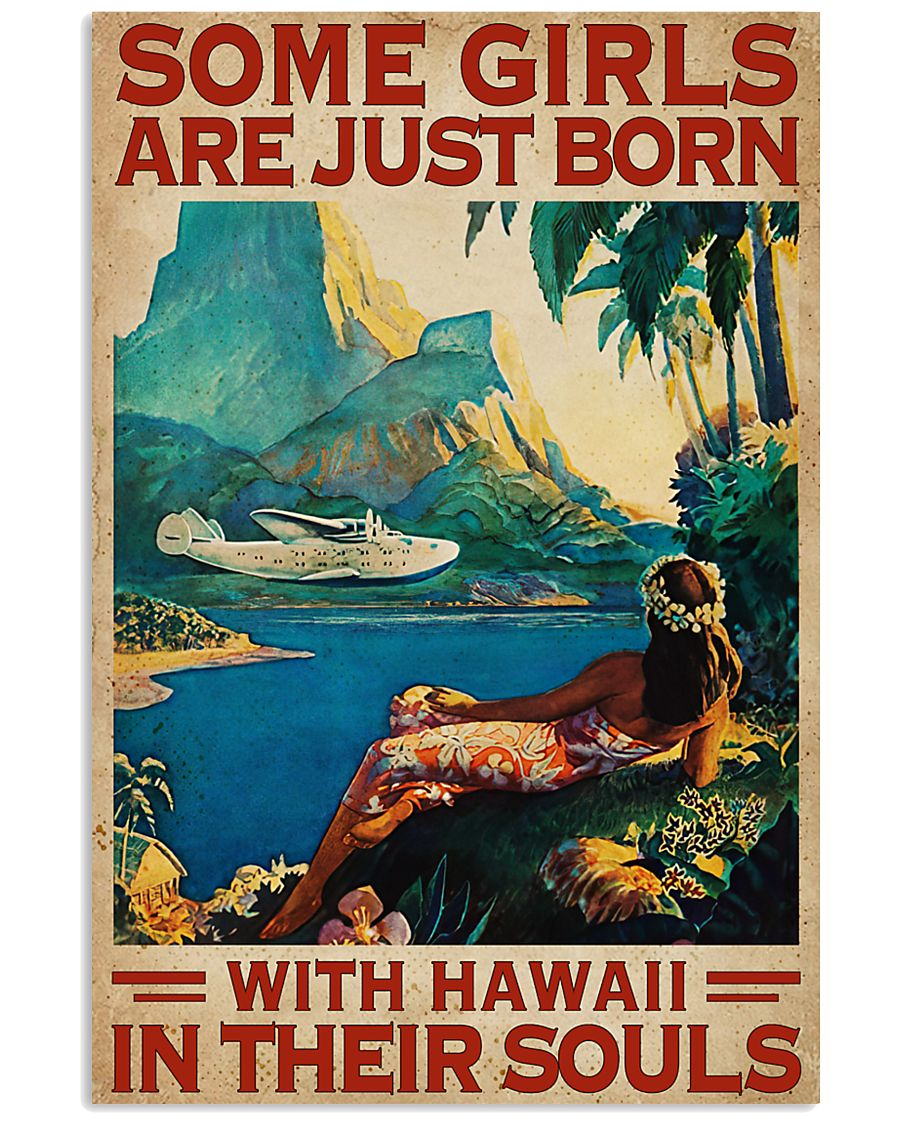 Hawaii In Their Souls 16x24 Poster