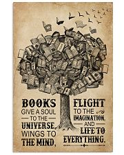 Books Give A Soul Reading Tree 16x24 Poster front