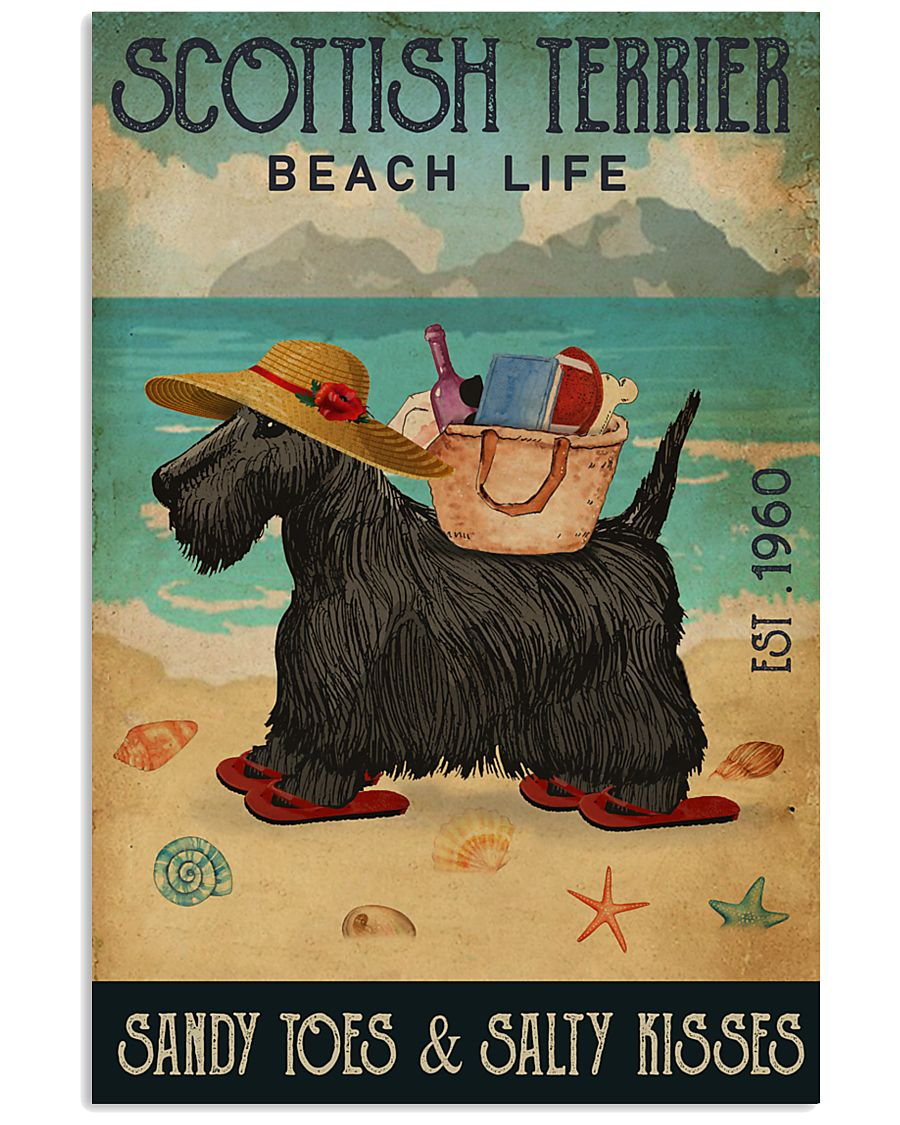 Beach Life Sandy Toes Scottish Terrier 11x17 Poster