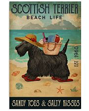 Beach Life Sandy Toes Scottish Terrier 11x17 Poster front