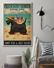 Beach Life Sandy Toes Scottish Terrier 11x17 Poster lifestyle-poster-1