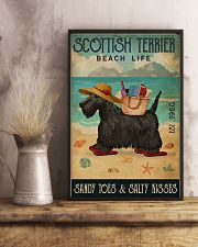 Beach Life Sandy Toes Scottish Terrier 11x17 Poster lifestyle-poster-3