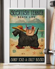 Beach Life Sandy Toes Scottish Terrier 11x17 Poster lifestyle-poster-4