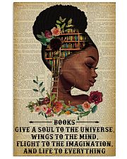 Books Give A Soul Reading Black Girl 11x17 Poster front