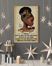 Books Give A Soul Reading Black Girl 11x17 Poster lifestyle-holiday-poster-1