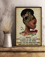 Books Give A Soul Reading Black Girl 11x17 Poster lifestyle-poster-3