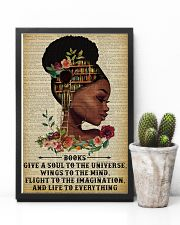 Books Give A Soul Reading Black Girl 11x17 Poster lifestyle-poster-8