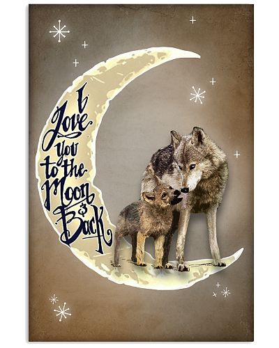 Love You To The Moon And Back  Wolf