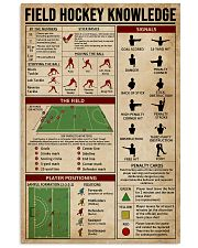 Field Hockey Knowledge Sport 16x24 Poster front