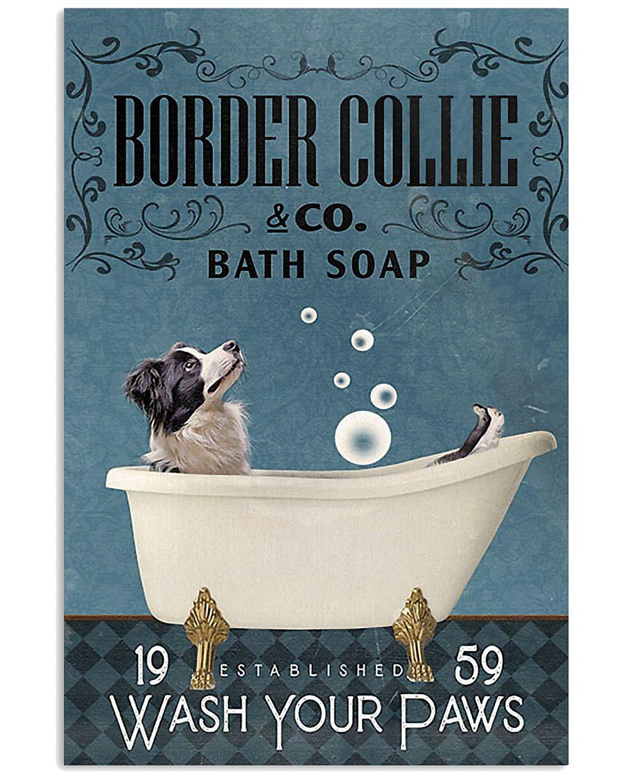 Bath Soap Company Border Collie 11x17 Poster