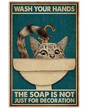 Wash Your Hand Cat 16x24 Poster front