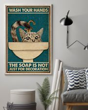 Wash Your Hand Cat 16x24 Poster lifestyle-poster-1