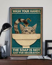 Wash Your Hand Cat 16x24 Poster lifestyle-poster-2
