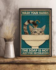 Wash Your Hand Cat 16x24 Poster lifestyle-poster-3
