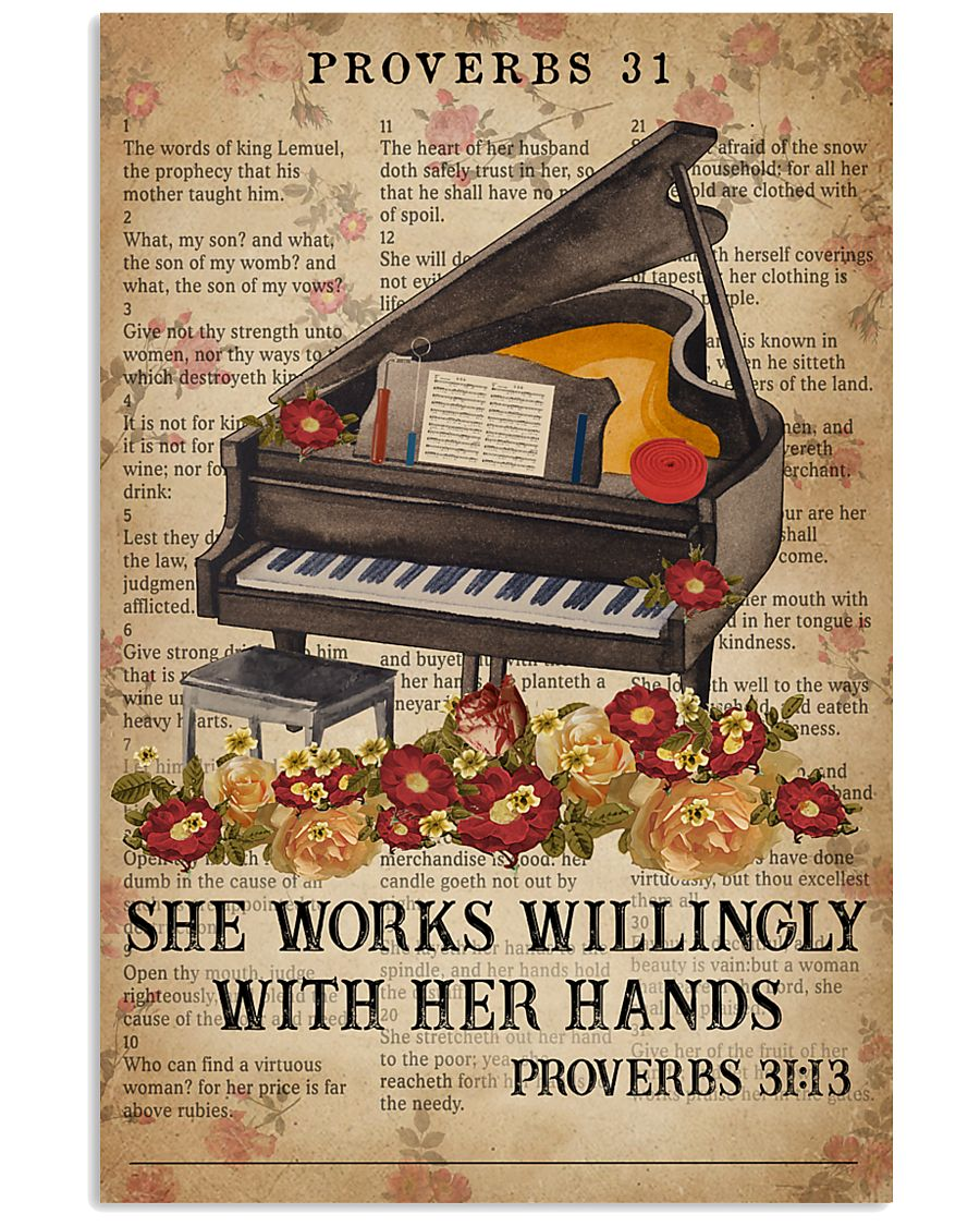 Catchphrase Works Willingly With Hand Piano 11x17 Poster