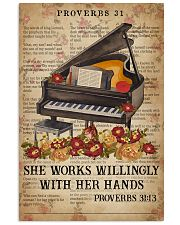 Catchphrase Works Willingly With Hand Piano 11x17 Poster front