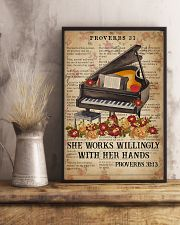 Catchphrase Works Willingly With Hand Piano 11x17 Poster lifestyle-poster-3