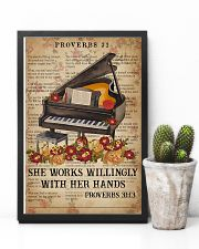 Catchphrase Works Willingly With Hand Piano 11x17 Poster lifestyle-poster-8