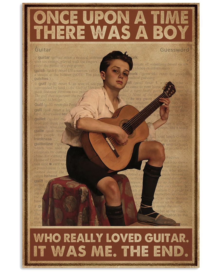 Once Upon A Time Guitar 16x24 Poster