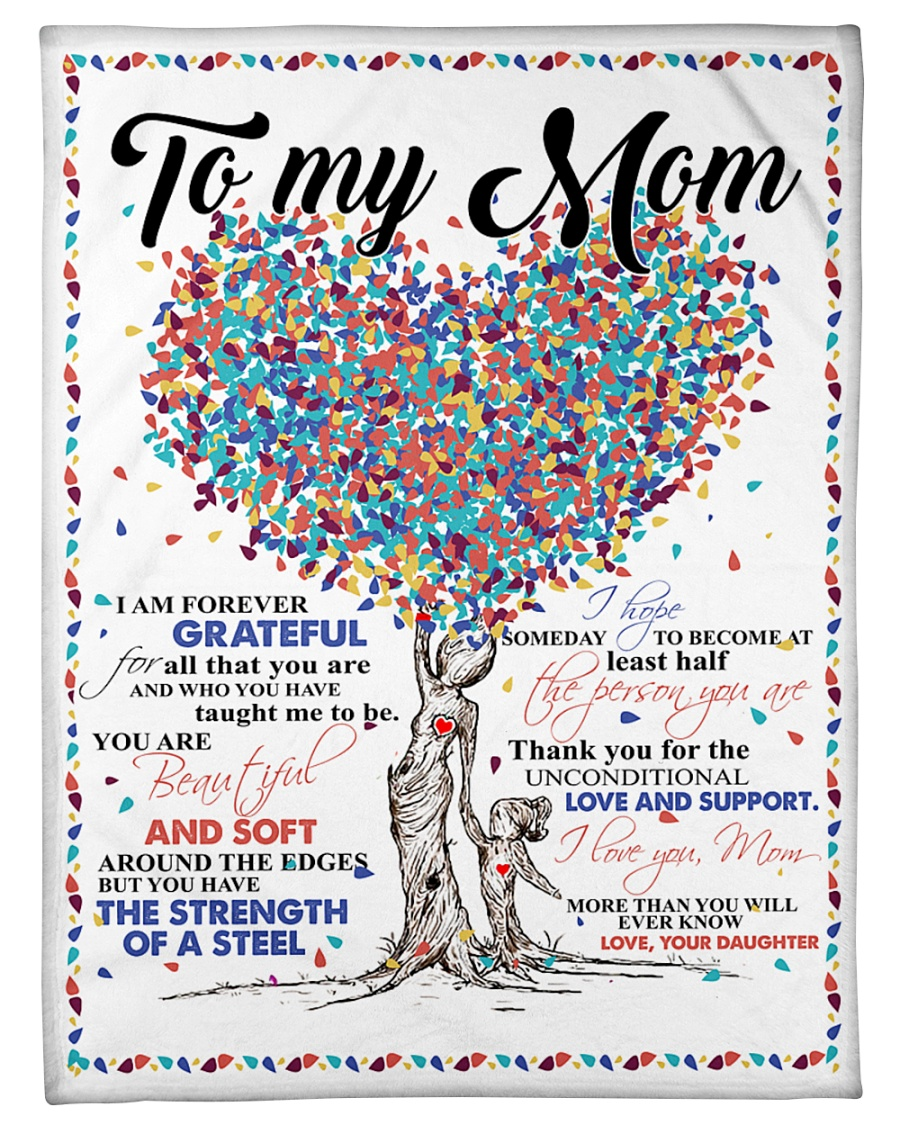 "Daughter To Mom Forever Grateful  Small Fleece Blanket - 30"" x 40"""