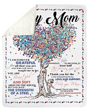 "Daughter To Mom Forever Grateful  Sherpa Fleece Blanket - 50"" x 60"" thumbnail"